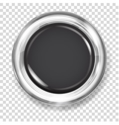 black plastic button vector image