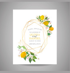 Botanical wedding invitation card save date vector