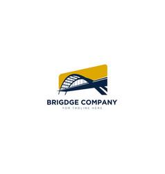 Bridge company logo designs for contractor logo vector