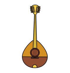 Buzuky instrument isolated icon vector