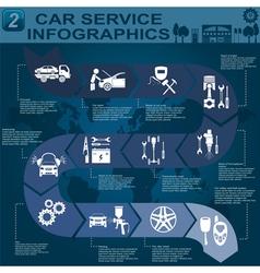Car service infographics 6 vector
