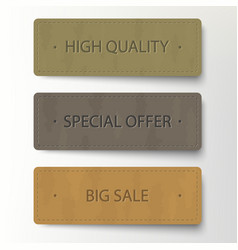 cardboard banner discount sticker set sale vector image