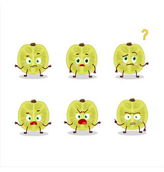 Cartoon character slice amla with what expression vector