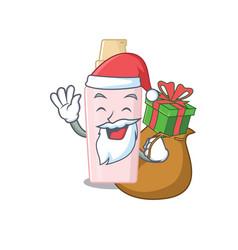Cartoon design foundation santa having vector