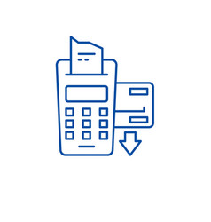 Checkout counter line icon concept checkout vector