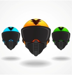 Colored helmets vector