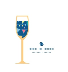 colorful doodle bunting flags wine glass vector image