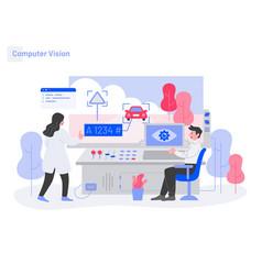 Computer vision concept modern flat design vector