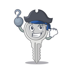 Cool and funny key cartoon style wearing hat vector