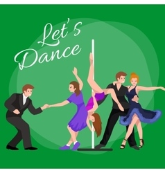 couple dancing modern dance vector image