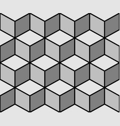 Cubes seamless background vector