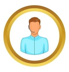 Customer service operator headset icon vector