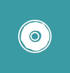 donut icon simple food element vector image