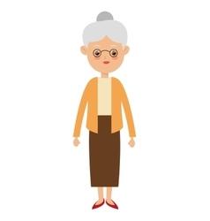 Elder woman icon vector