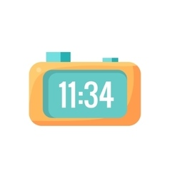 Electronic Alarm Clock Cartoon Design vector
