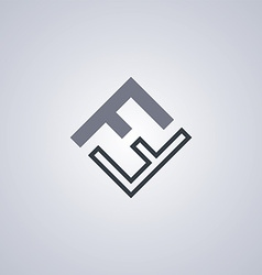 Ff initial letter logotype company logo theme vector