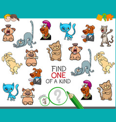 Find one picture of a kind cartoon game vector
