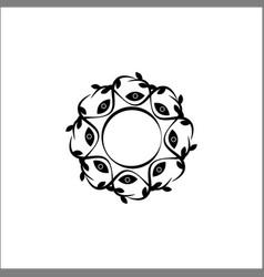 floral decorative frame vector image