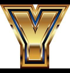 Golden Font Letter Y vector