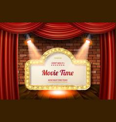 Golden frame in cinematic style vector