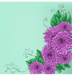 Hand-drawing floral background with flower rose vector image