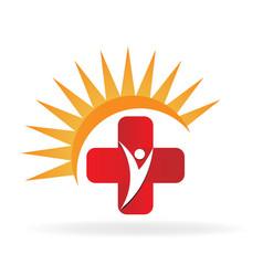 health cross medical symbol design vector image
