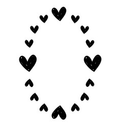 hearts decoration design border vector image