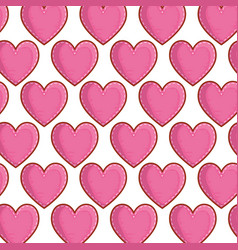 hearts love pattern background vector image