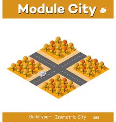 isometric autumnal city vector image