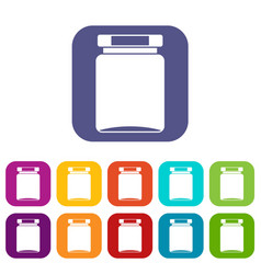 Jar icons set vector