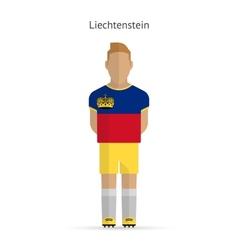 Liechtenstein football player soccer uniform vector