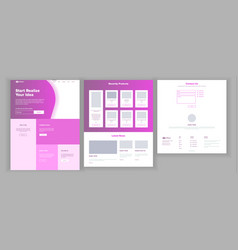 Main web page design website business vector