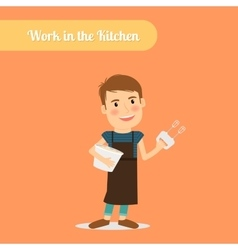 Man work in the kitchen vector image