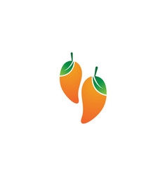 mango fruits logo symbol vector image