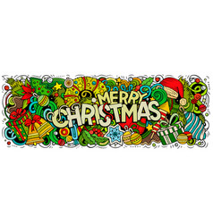 Merry christmas doodles new year vector