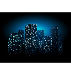 Night City Skyline vector