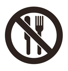 no eating allowed vector image