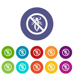 no louse sign set icons vector image