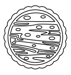 Nuts cake icon outline style vector