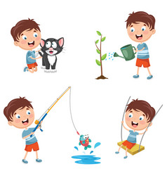 of kid vector image