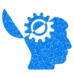 Open Mind Gear Grainy Texture Icon vector image