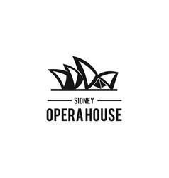 Opera house logo design vector