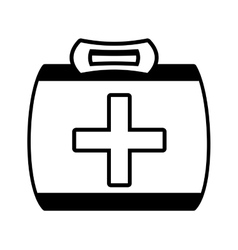 Outline kit first aid cross emergency medical vector