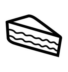 Piece cake icon vector