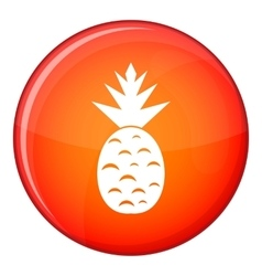Pitaya dragon fruit icon flat style vector