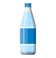 Plastic bottle fresh pure mineral water vector