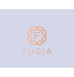 Premium letter F logo icon design Luxury vector