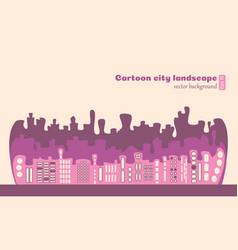 purple cartoon blots stylized building with window vector image