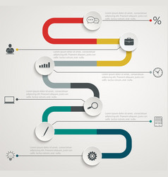 Road infographic timeline with icons vector