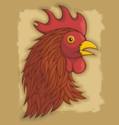 rooster head red vector image